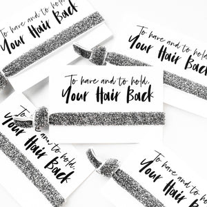 Pack of 10 Favors | Sale Glitter Hair Ties