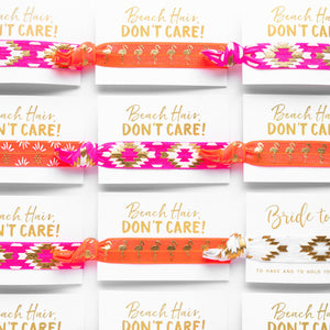Pack of 10 Favors | Neon Tropical Bachelorette Hair Ties