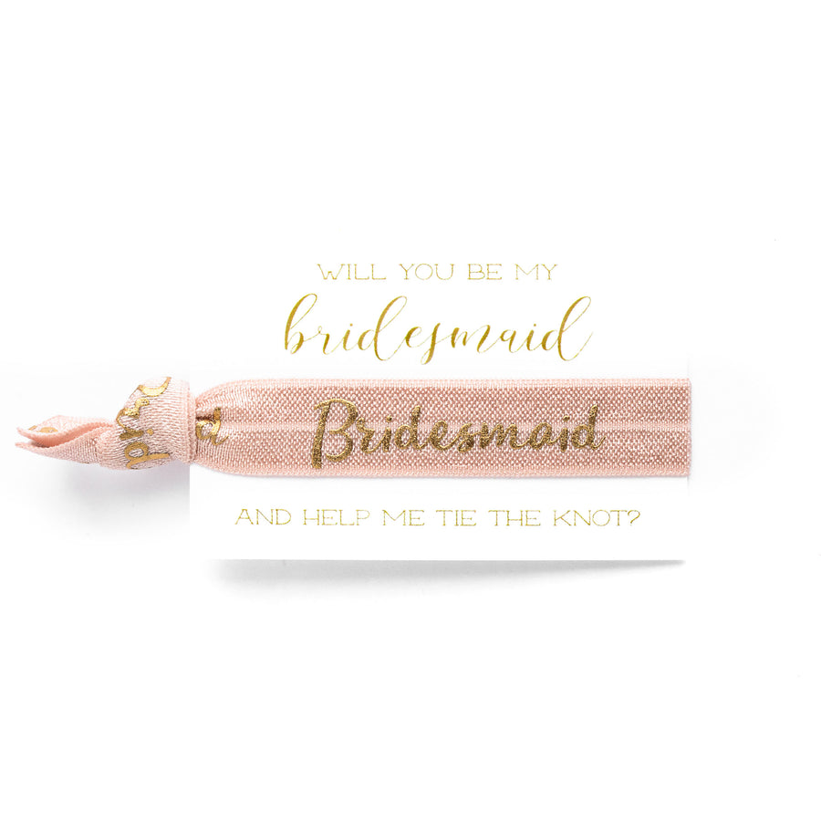 Bridal Party Proposal | 1 Hair Tie Favor Card