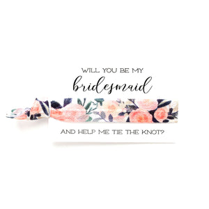 Wedding Party Proposals | 1 Hair Tie Favor Card