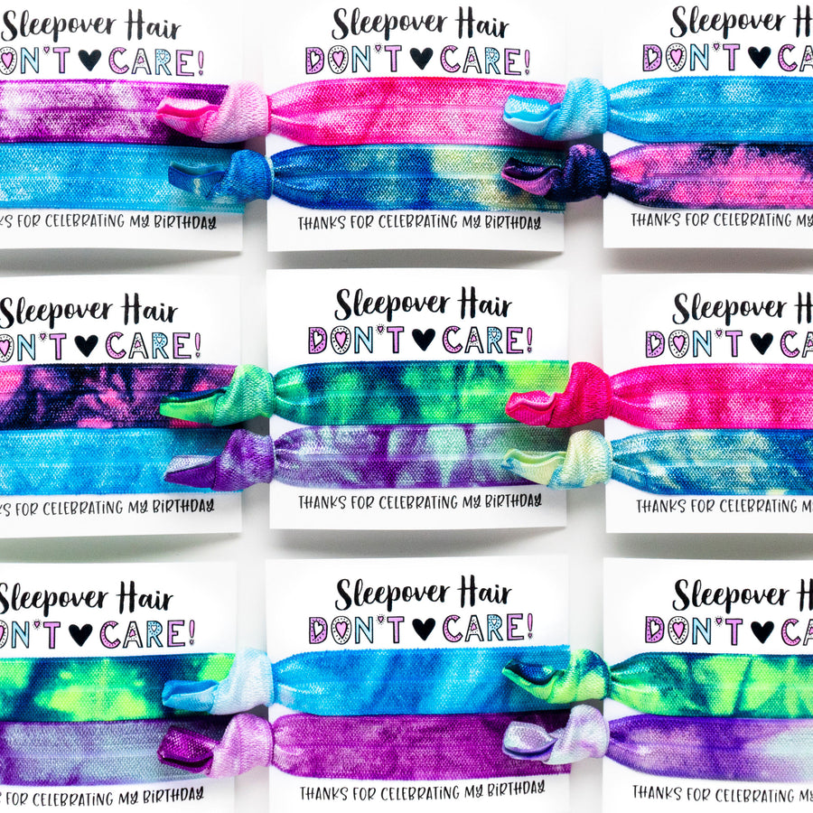 TIE DYE Birthday Party Pack | DIY Hair Tie Favors