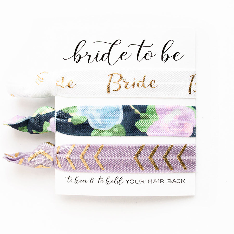 Bride Honeymoon Gift | 3 Hair Tie Favor Card