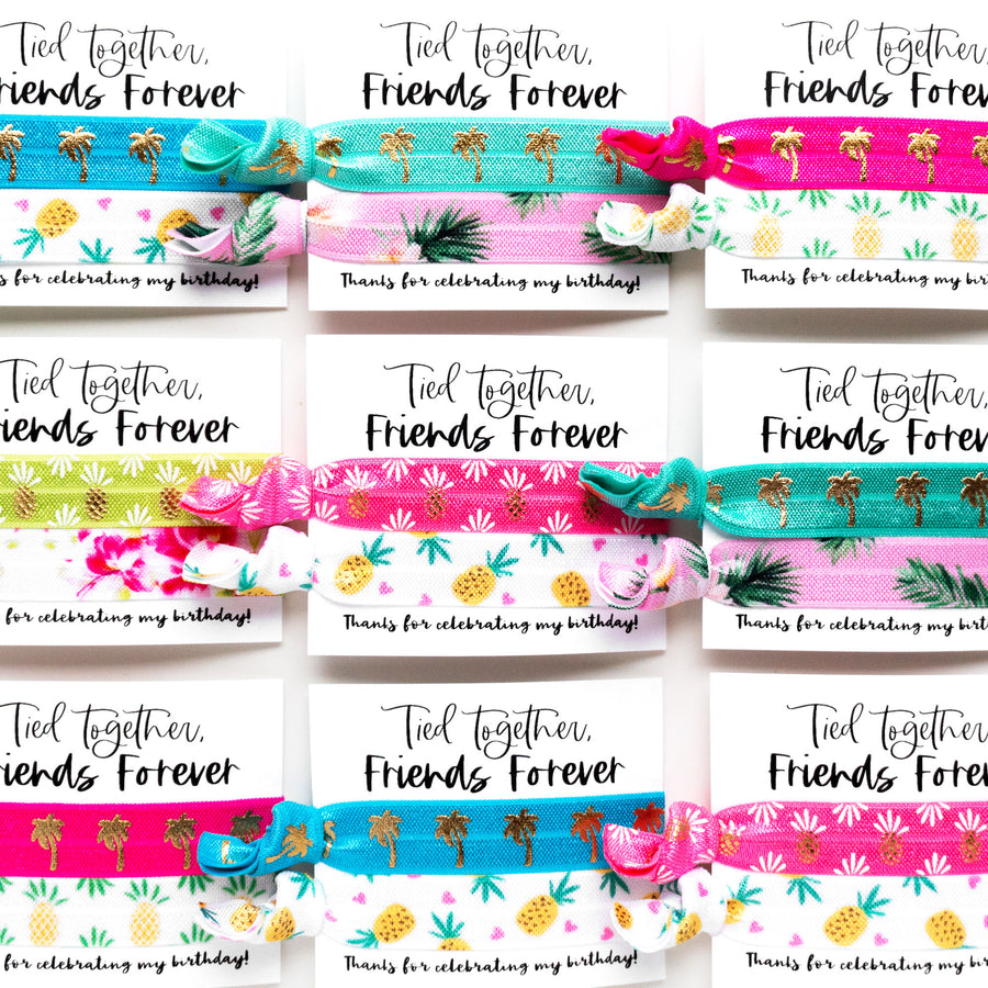 TROPICAL Birthday Party Pack | DIY Hair Tie Favors