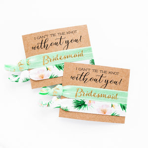 Bride to Be Honeymoon Gift | 2 Hair Tie Favor Card