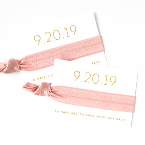 Save the Date | Wedding Hair Tie Favors