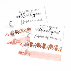 Bridal Party Proposal | 3 Hair Tie Favor Card