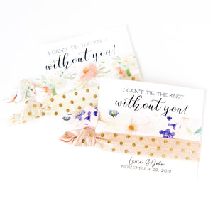 FLORAL Polka Dot Bridal Party Hair Tie Favors