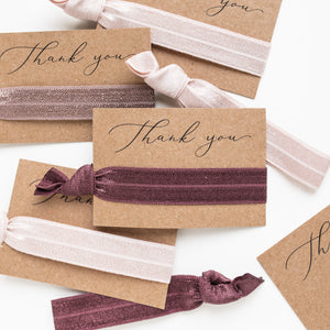 Bridal Party Proposals | 1 Hair Tie Favor Card