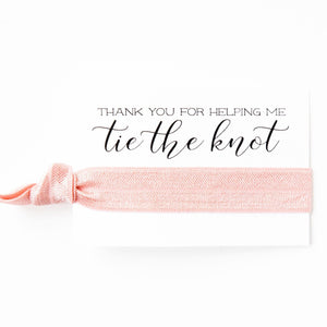 SINGLE SOLID FAVORS | Wholesale Hair Tie Favors