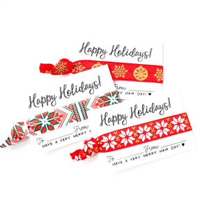 SINGLE HOLIDAY FAVORS | Wholesale Hair Tie Favor