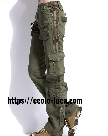 Army Unisex Cargo Pants Multi-Pockets