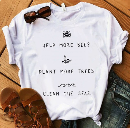 Help the Planet T-Shirt - Ecolo.luca