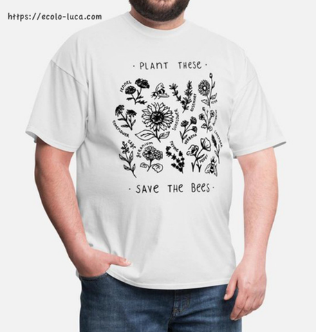 Plant these Save the Bees T-Shirt - Ecolo.luca