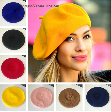 Thin Elastic Wool Beret
