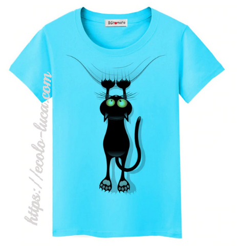 Colorful Funny Cats T-Shirt - Ecolo.luca