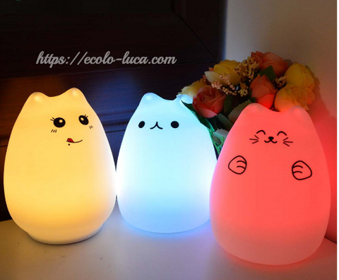 Cat Silicone Colorful LED Nightlight - Ecolo.luca