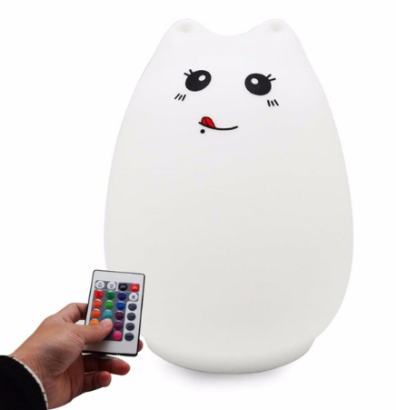 Cat Silicone Colorful LED Nightlight