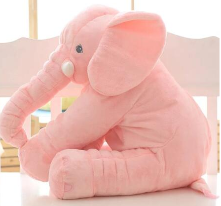 Beautiful Elephant Plush Pillow 60 cm - Ecolo.luca