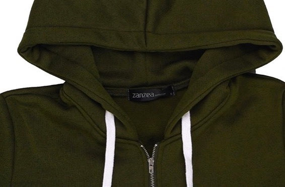 Long Hooded Zippered Sweatshirt - Ecolo.luca