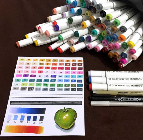 Art Markers Set Dual Head Felts 30/40/60/80/168 Colors - Ecolo.luca