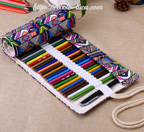 Portable Pencil Case 36/48/72 Roll up Bag - Ecolo.luca