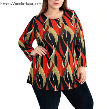 Plus Size Printed Top - Ecolo.luca