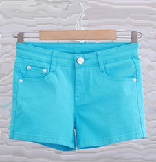 Hot Pants Colored Denim Sexy Shorts