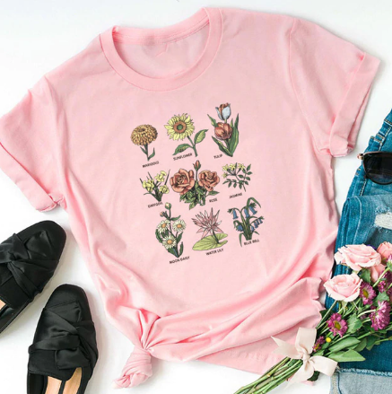Wildflowers/Bees T-Shirt - Ecolo.luca