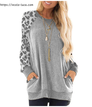 Printed Sleeves Pockets Sweater