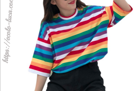 Rainbow Striped T-Shirt - Ecolo.luca
