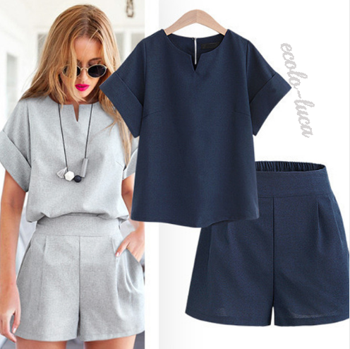 Cotton/Linen Top and Shorts Kit - Ecolo.luca