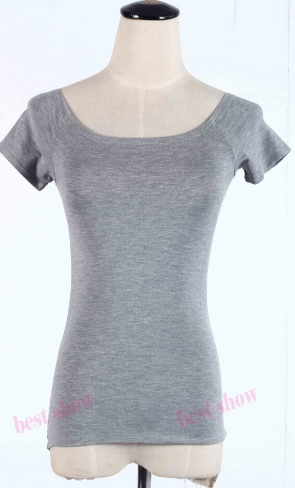 Sexy Off the Shoulder Short or Mid Sleeves Cotton T-shirts
