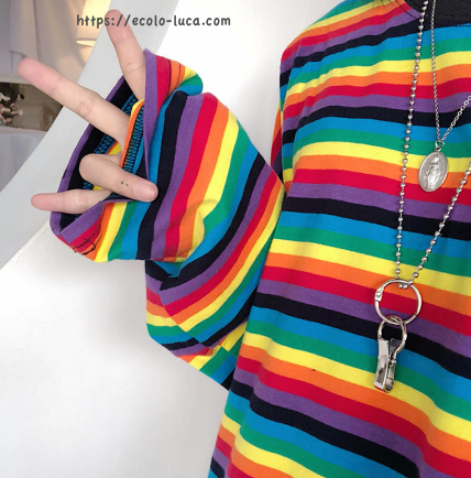 Striped Long Sleeves T-Shirt - Ecolo.luca