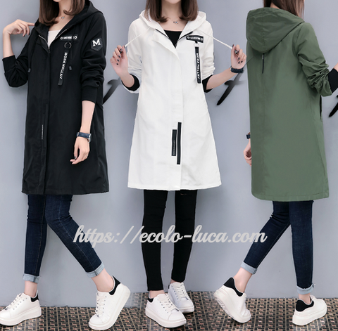 Fashion Hooded Trench Coat - Ecolo.luca