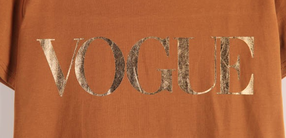 Letter VOGUE Printed Colored T-shirt