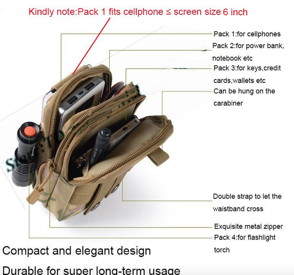 Bum Bag Phone Waist Case Pouch for all iPhone, Samsung Galaxy S7/S6/J7, LG G5/G4 - Ecolo.luca