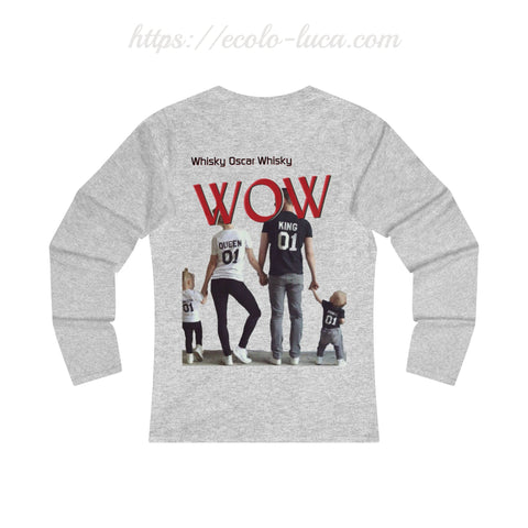 WOW Family 2 Prints Woman Tee - Ecolo.luca