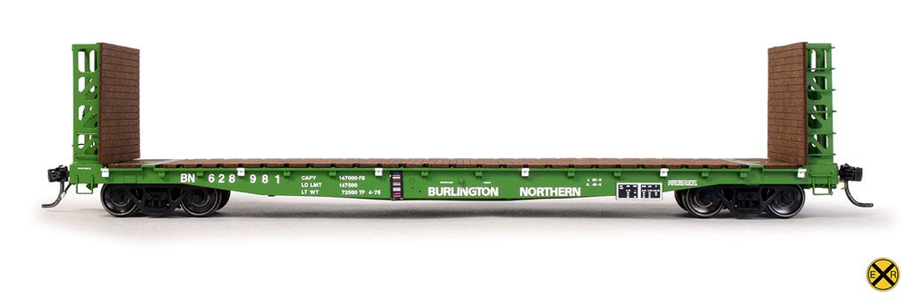 "Now Available! ExactRail's All New - HO Scale: GSI 53'6"" Bulkhead Flat cars!"