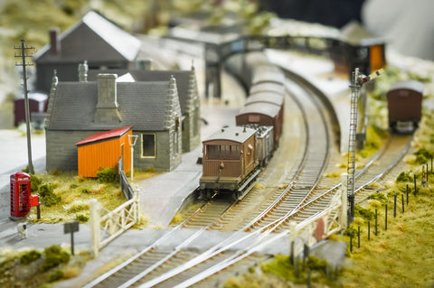 model train and scenery