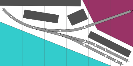 A scottish parlor N scale track plan