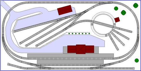 N scale track layout