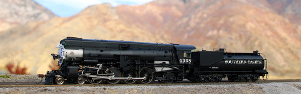 Black southern pacific locomotive