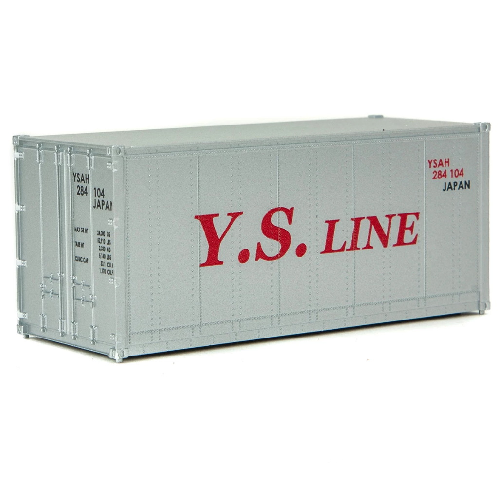 HO Scale: 20' Smooth-side Container - Y.S. Line