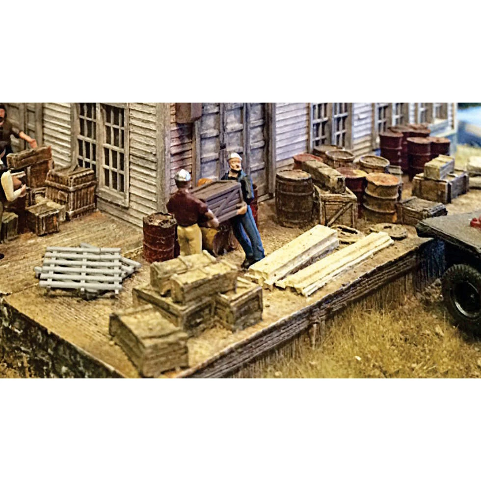 HO Scale: 40' Loading Dock w/Cast Details