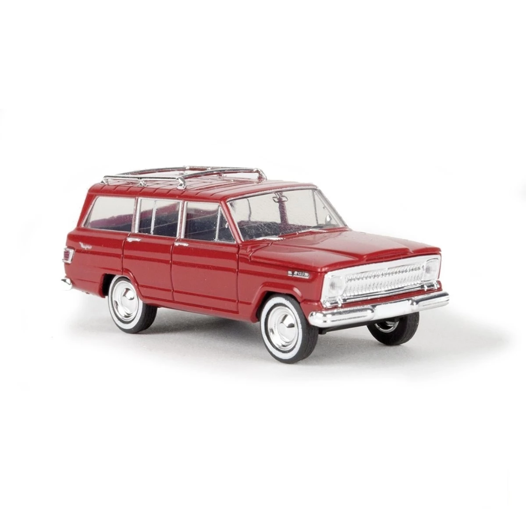 HO Scale: 1963 Jeep Wagoneer - Red