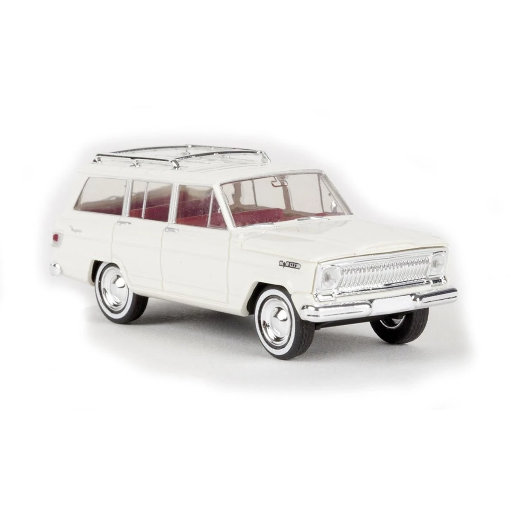 HO Scale: 1963 Jeep Wagoneer - White