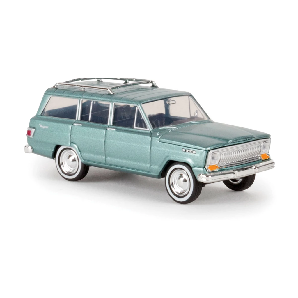 HO Scale: 1967 Jeep Wagoneer - Metallic Green