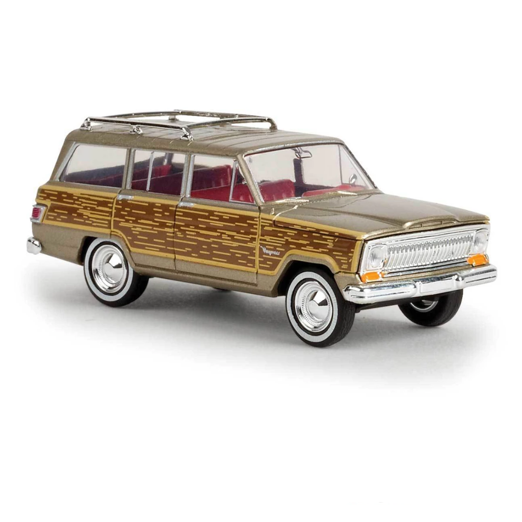 HO Scale: 1967 Jeep Wagoneer - Gold w/ Woody Sides