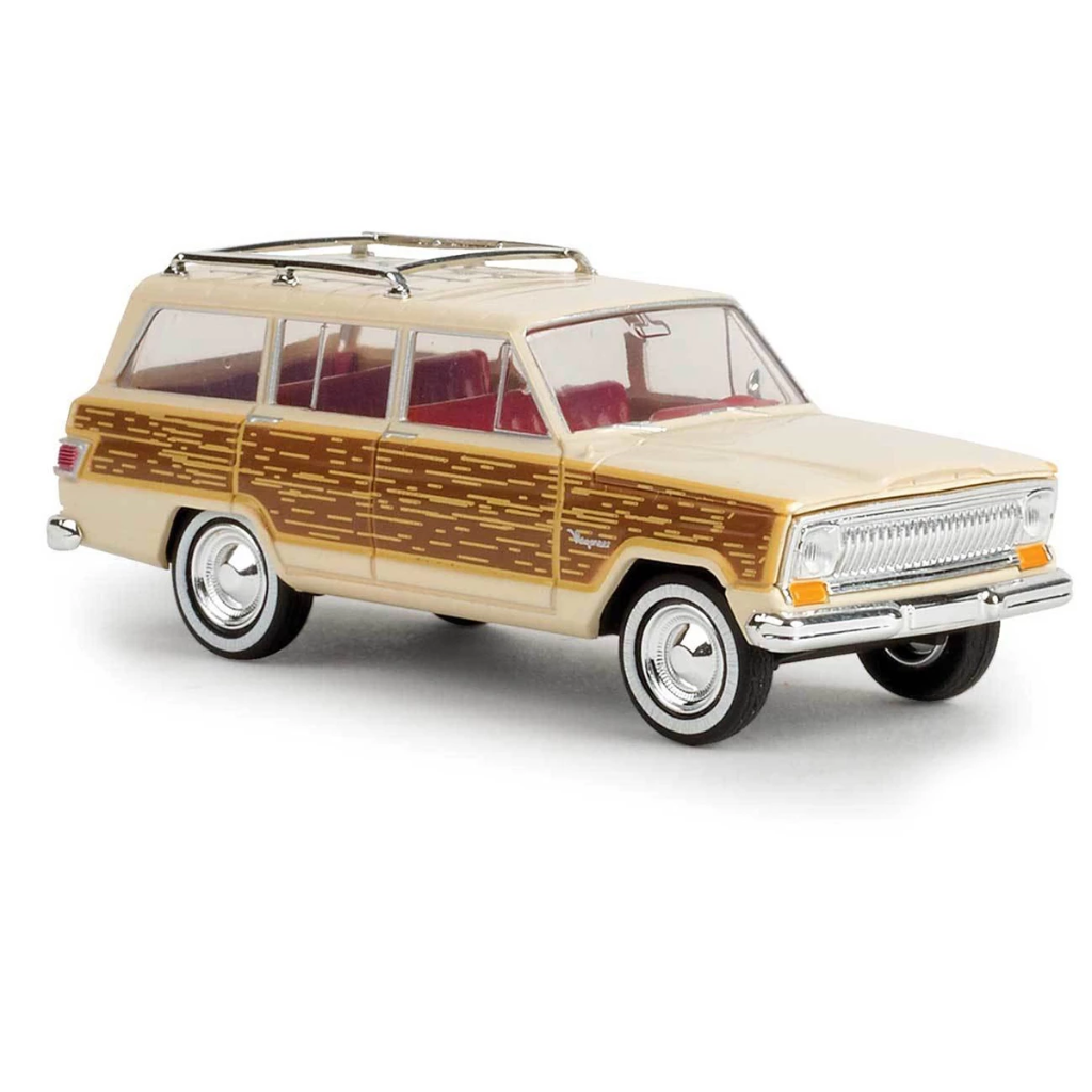 HO Scale: 1967 Jeep Wagoneer - Ivory w/ Woody Sides