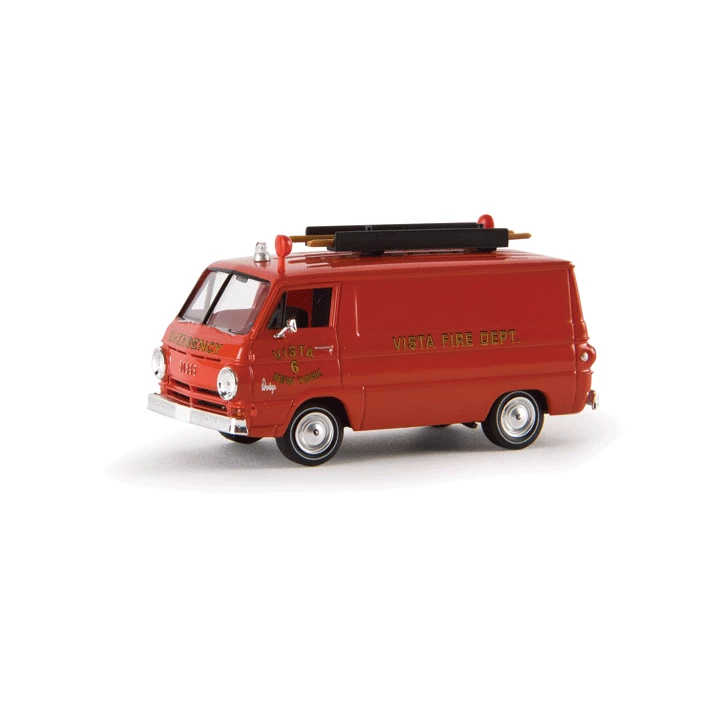 HO Scale: 1964 Dodge A 100 Cargo Van w/ Ladder - Vista, New York Fire Rescue